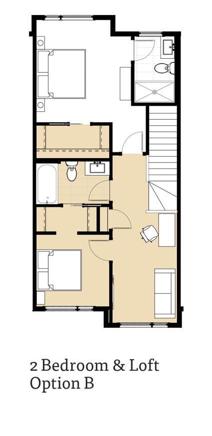 Calla II 2 Bedroom & Loft Option