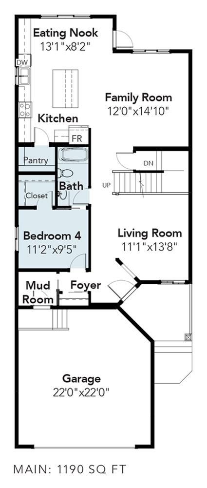 Melbourne Main Floor Bedroom Option