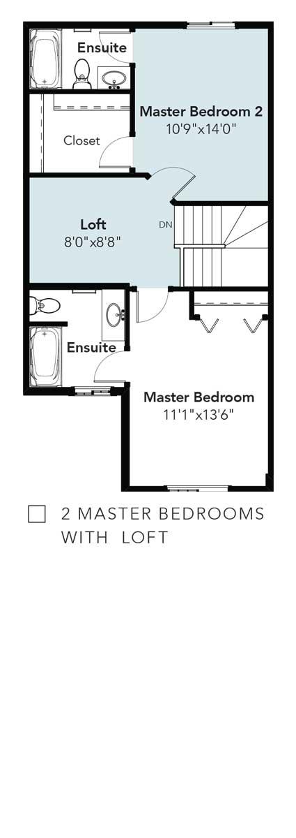 Panorama 2 Master Bedrooms & Loft