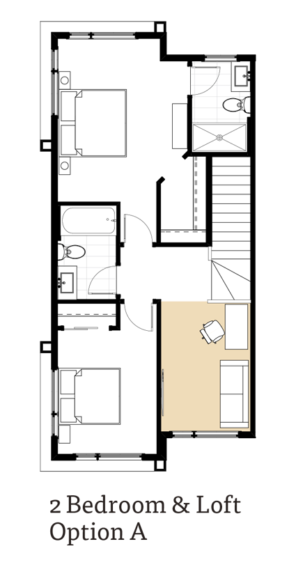 Amara II 2 Bedrooms and Loft Option A