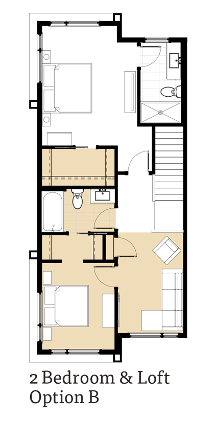 Amara 2 Bedrooms and Loft Option B
