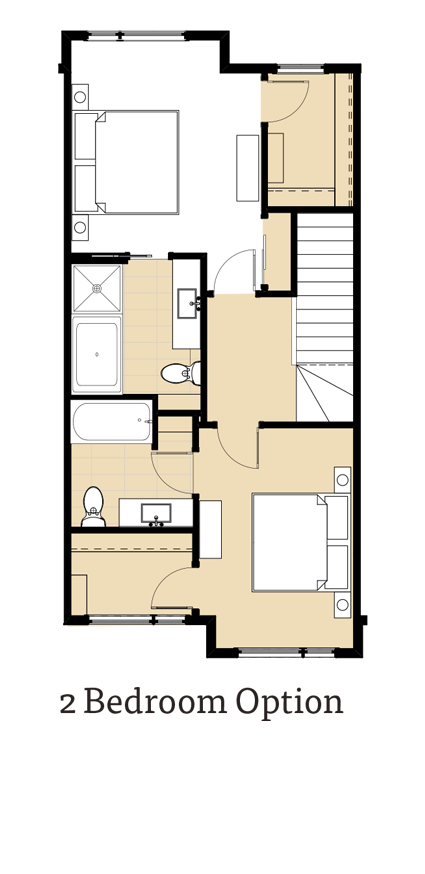 Calla II 2 Bedroom Option