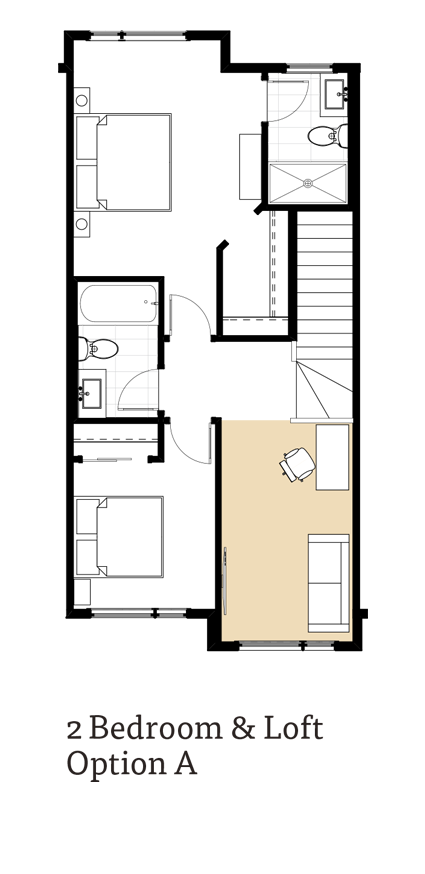 Calla II 2 Bedroom & Loft Option