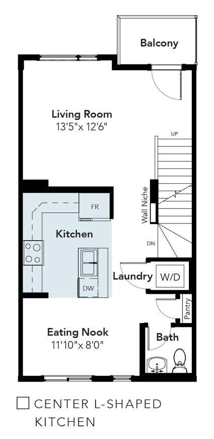 Emerson Center L-Shape Kitchen