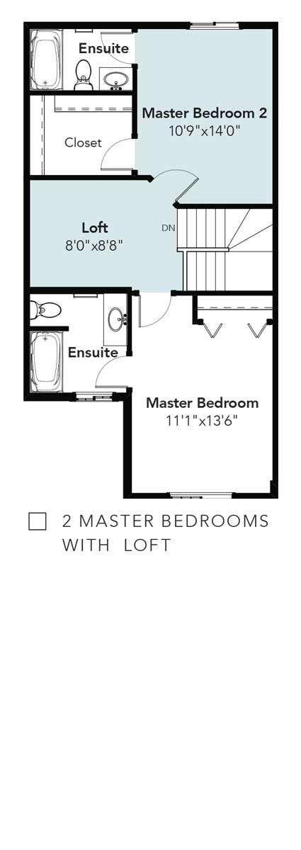 Panorama 2 Master Bedrooms & Loft