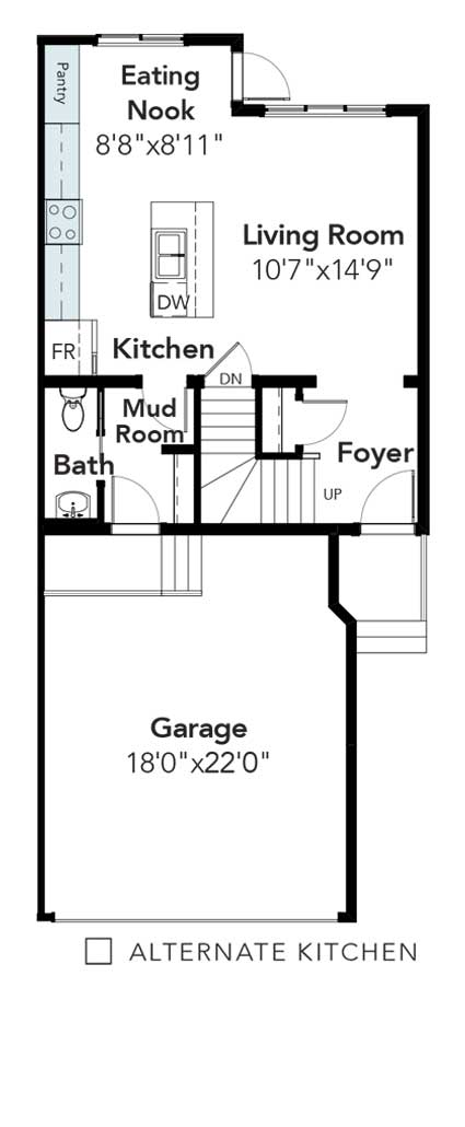 Pemberton Alternative Kitchen Layout