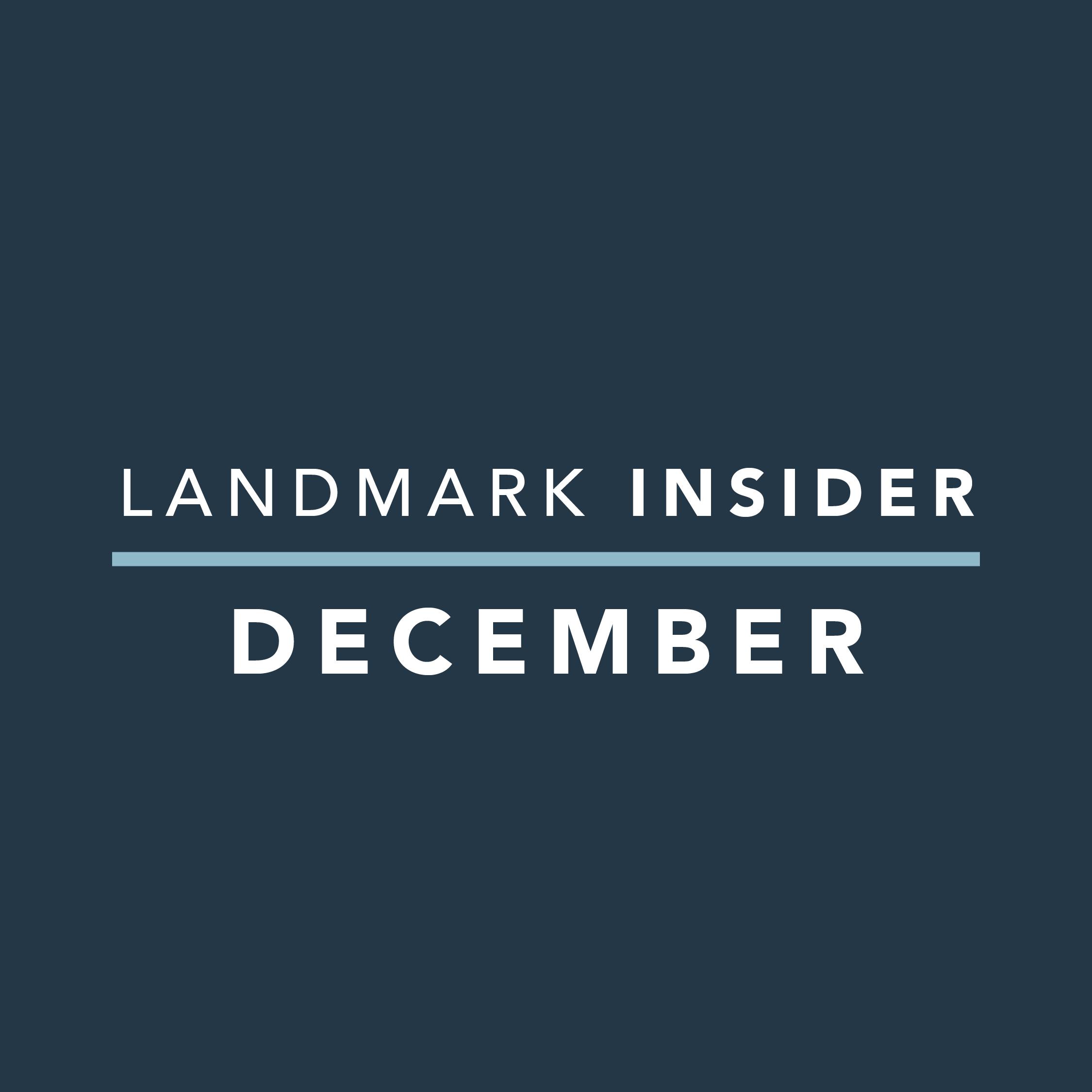 Landmark Homes Insider: December 2019