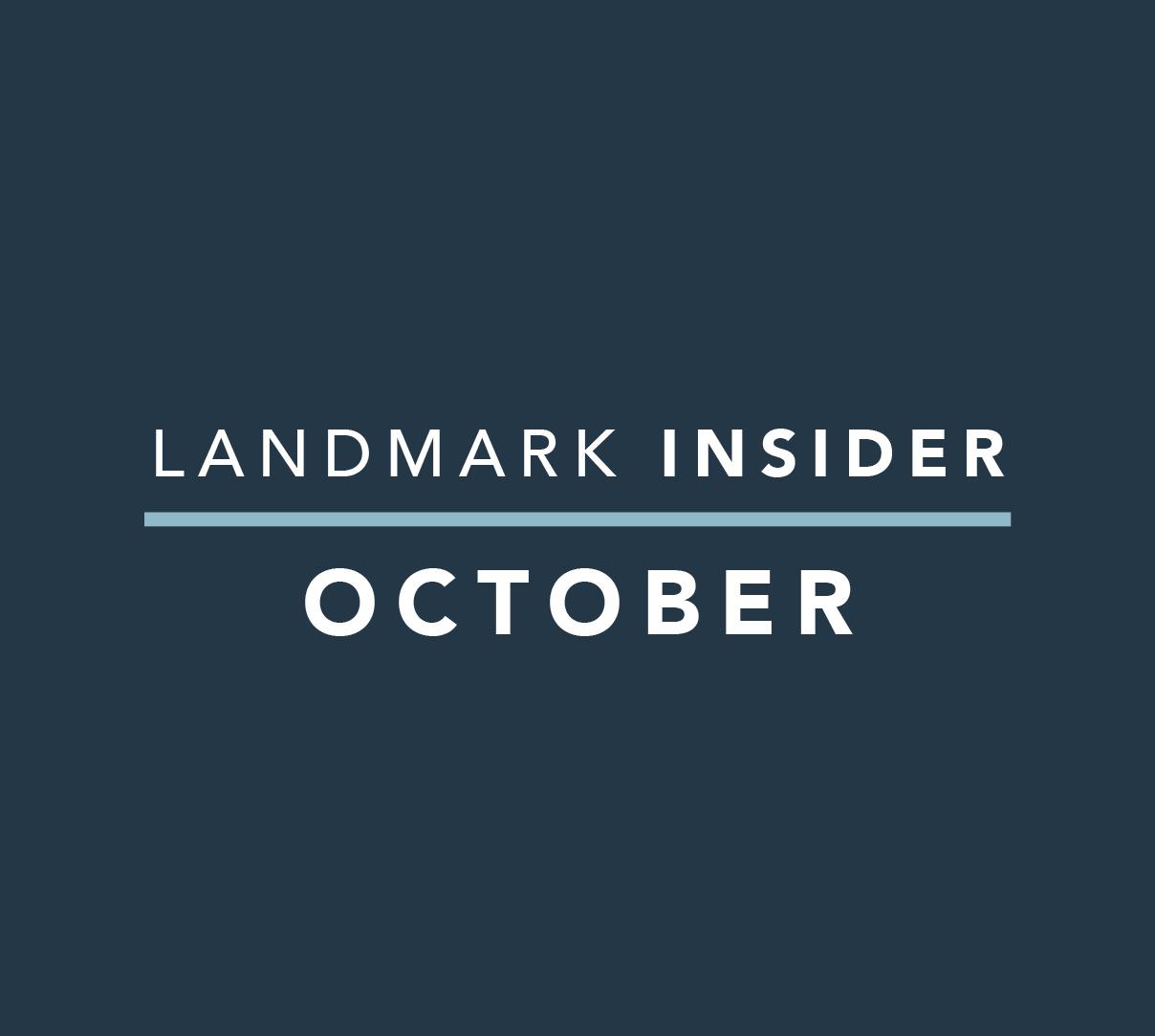 Landmark Homes Insider: October 2019