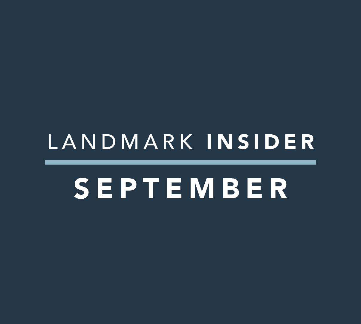 Landmark Homes Insider: September 2019