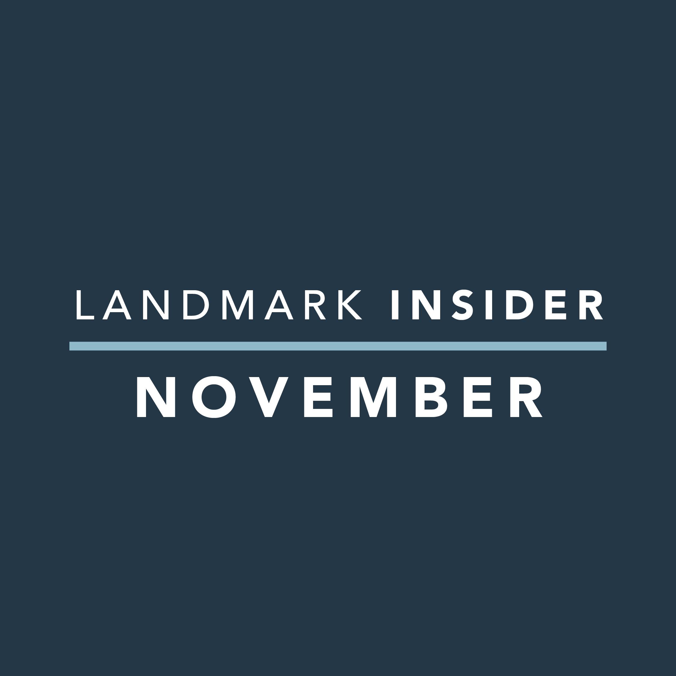 Landmark Homes Insider: November 2019